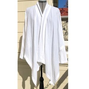Bryn Walker Cotton Gauze Wrap Cardigan Jacket